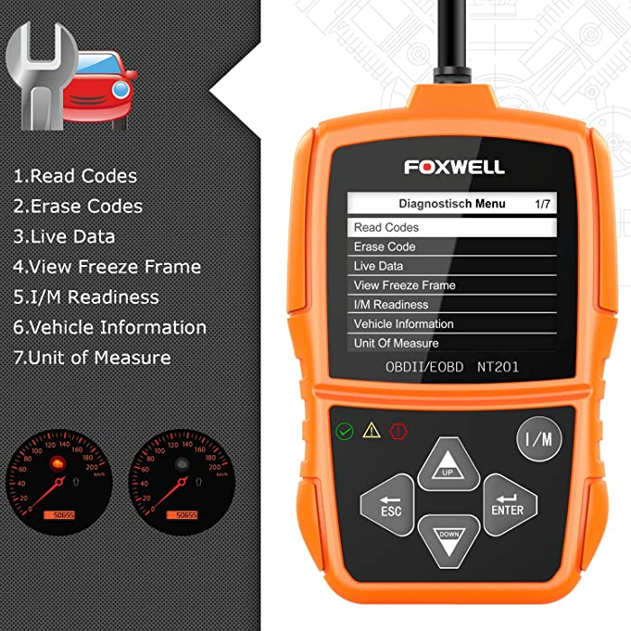 FOXWELL NT201 is one of the best engine code readers