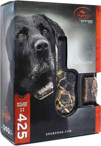SportDog – SD-425 – Camo WetlandHunter for Large or Stubborn Dog Waterproof Shock Training Collar