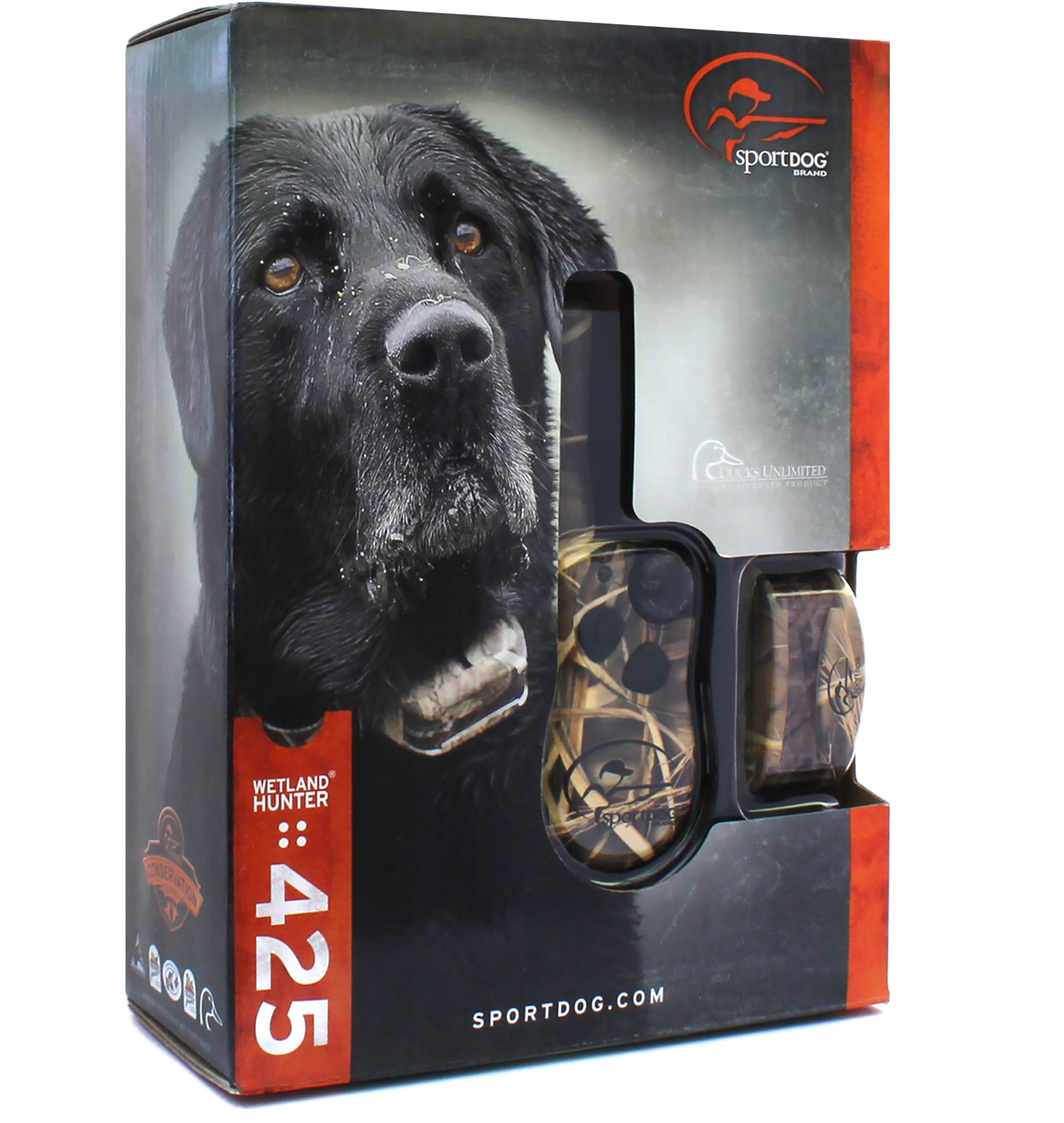 SportDog - SD-425 - Camo WetlandHunter for Large or Stubborn Dog Waterproof Shock Training Collar