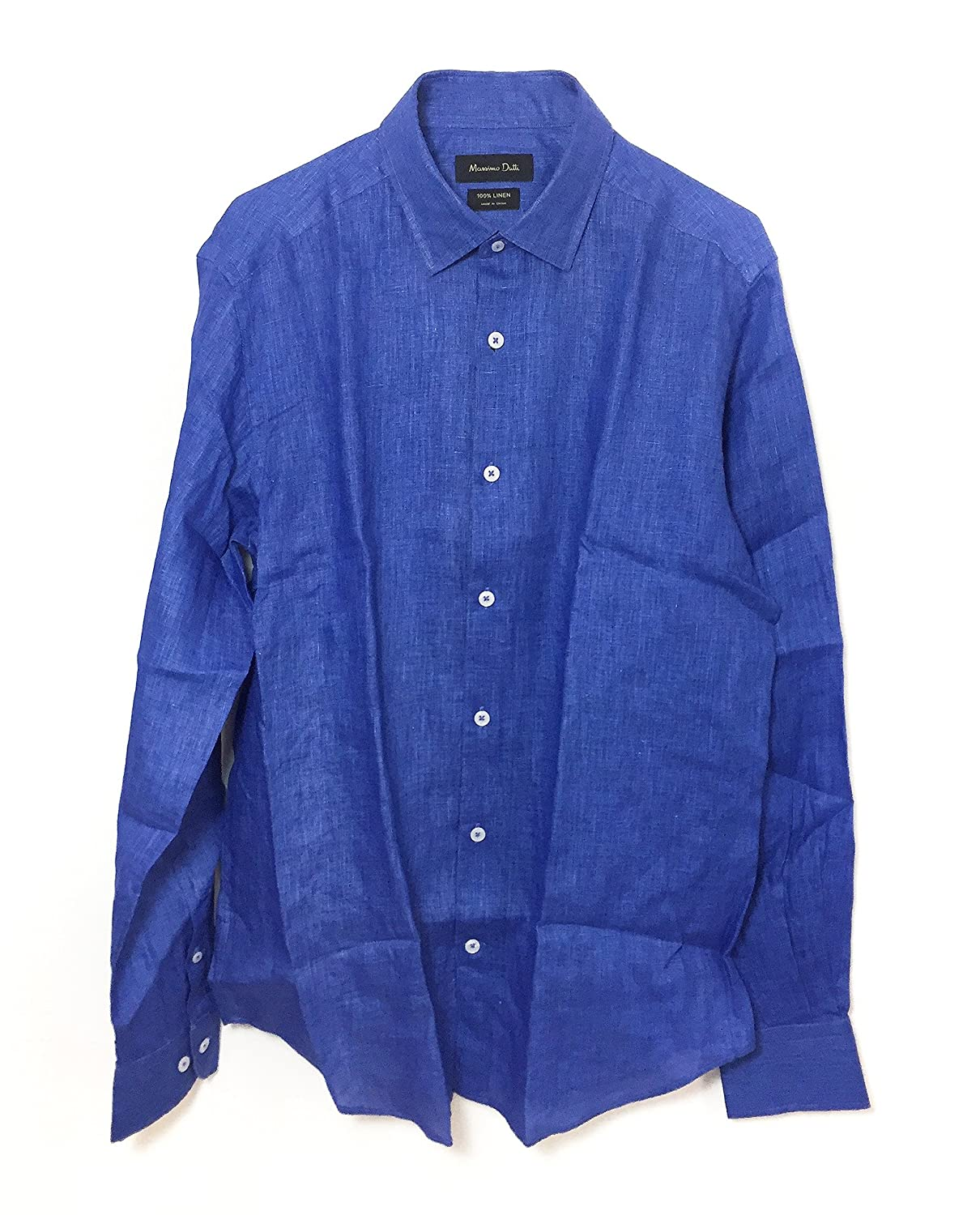 MASSIMO DUTTI Camisa Casual - para Hombre Azul Azul Medium: Amazon ...