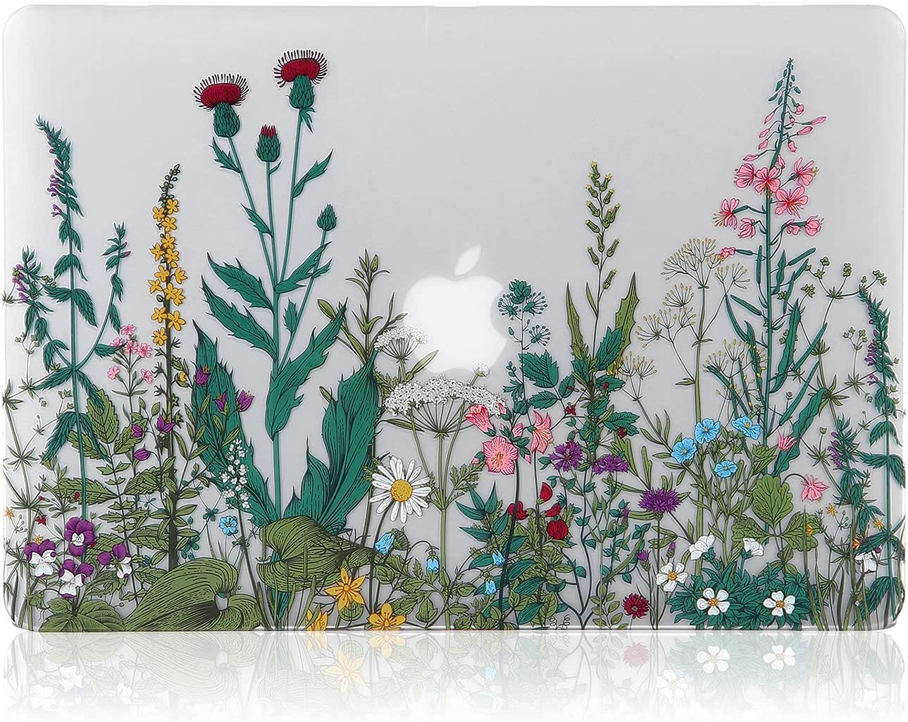 iDonzon MacBook Pro 13 inch Case (A1278 2008-2012 Release), 3D Effect Matte Clear See Through Hard Case Cover Only Compatible MacBook Pro 13.3 inch with CD-ROM, Garden Flowers