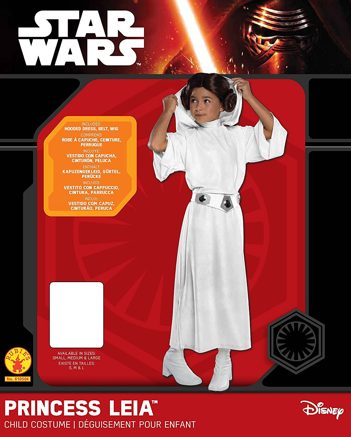 Amazon.com: Rubies Costume Star Wars Classic Princess Leia Deluxe Child Costume, Large: Toys & Games