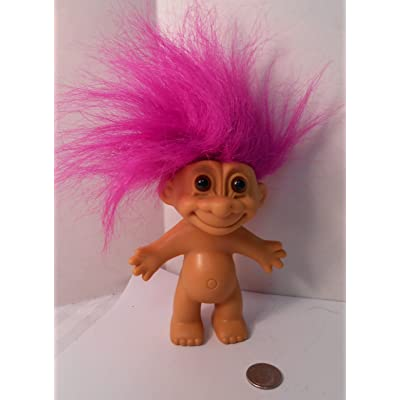 "Naked Troll Doll With Neon Purple Hair and Brown Eyes 6"": Toys & Games"