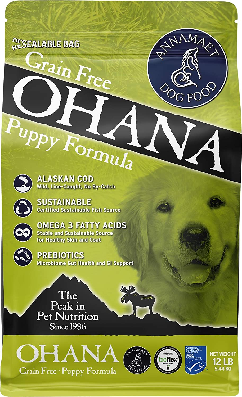 Annamaet Grain-Free Ohana Puppy Formula Dry Dog Food, (Line-Caught Cod & Whitefish), 12-lb Bag