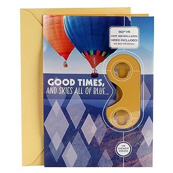 Amazon hallmark birthday greeting card with removable virtual hallmark birthday greeting card with removable virtual reality vr viewer vr hot air balloon m4hsunfo