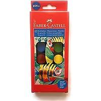 Faber-Castell, Estuche de 12 Acuarelas con Pincel