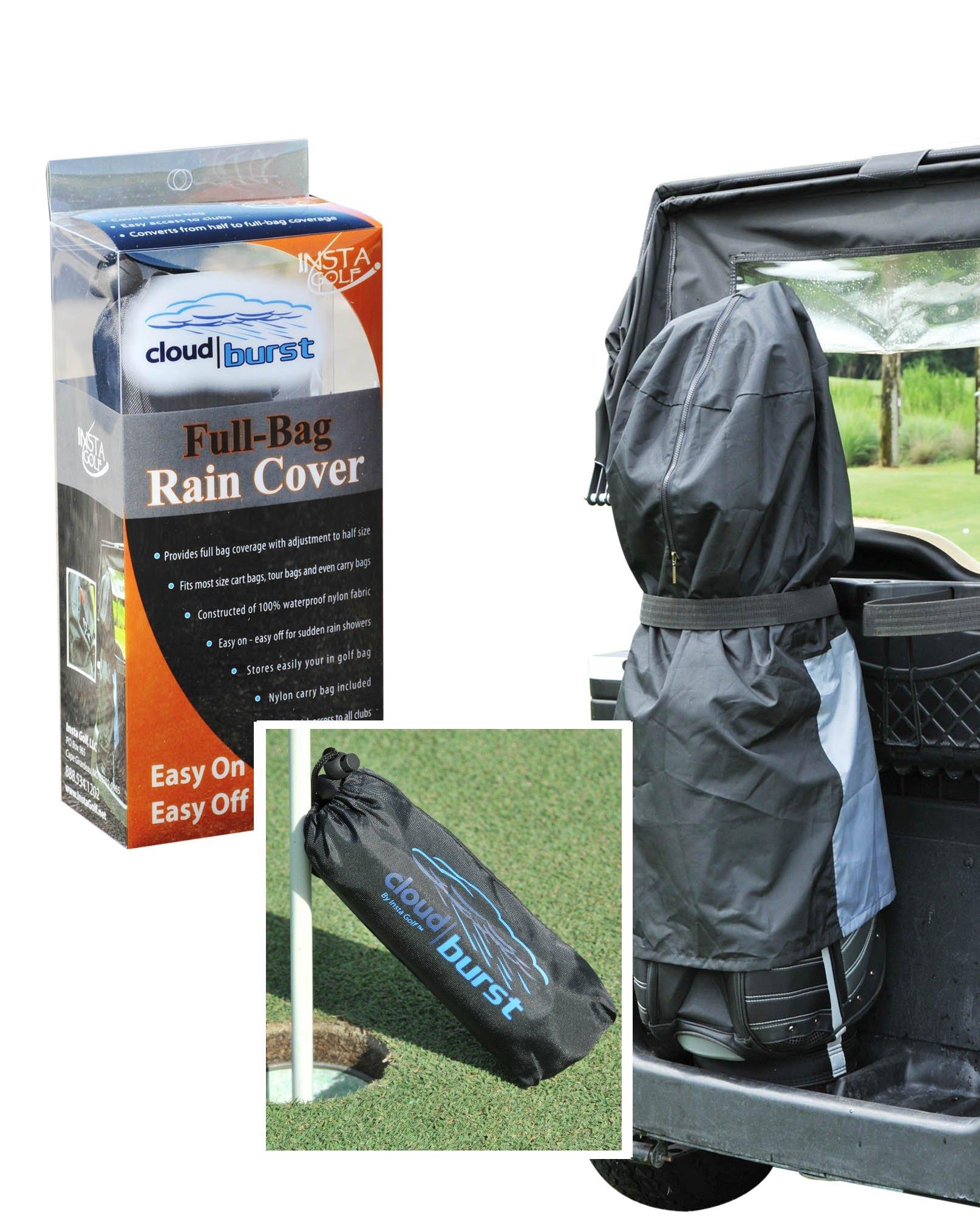 Insta Golf Cloudburst Rain Cover, Black/Gray by Insta Golf (Image #1)