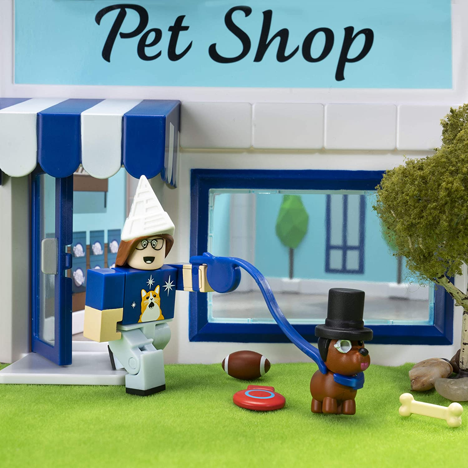 Roblox Celebrity Collection - Adopt Me: Pet Store Deluxe Playset [Includes Exclusive Virtual Item]: Toys & Games
