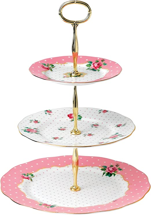 Handpainted top tier and blue rose base. Vintage blue 2 tier dessert stand 2 tier bone china cake stand  cupcake display