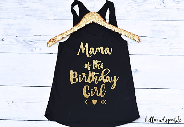 Amazon Mama Of The Birthday Girl Shirt Mom Matching Family Shirts First Handmade