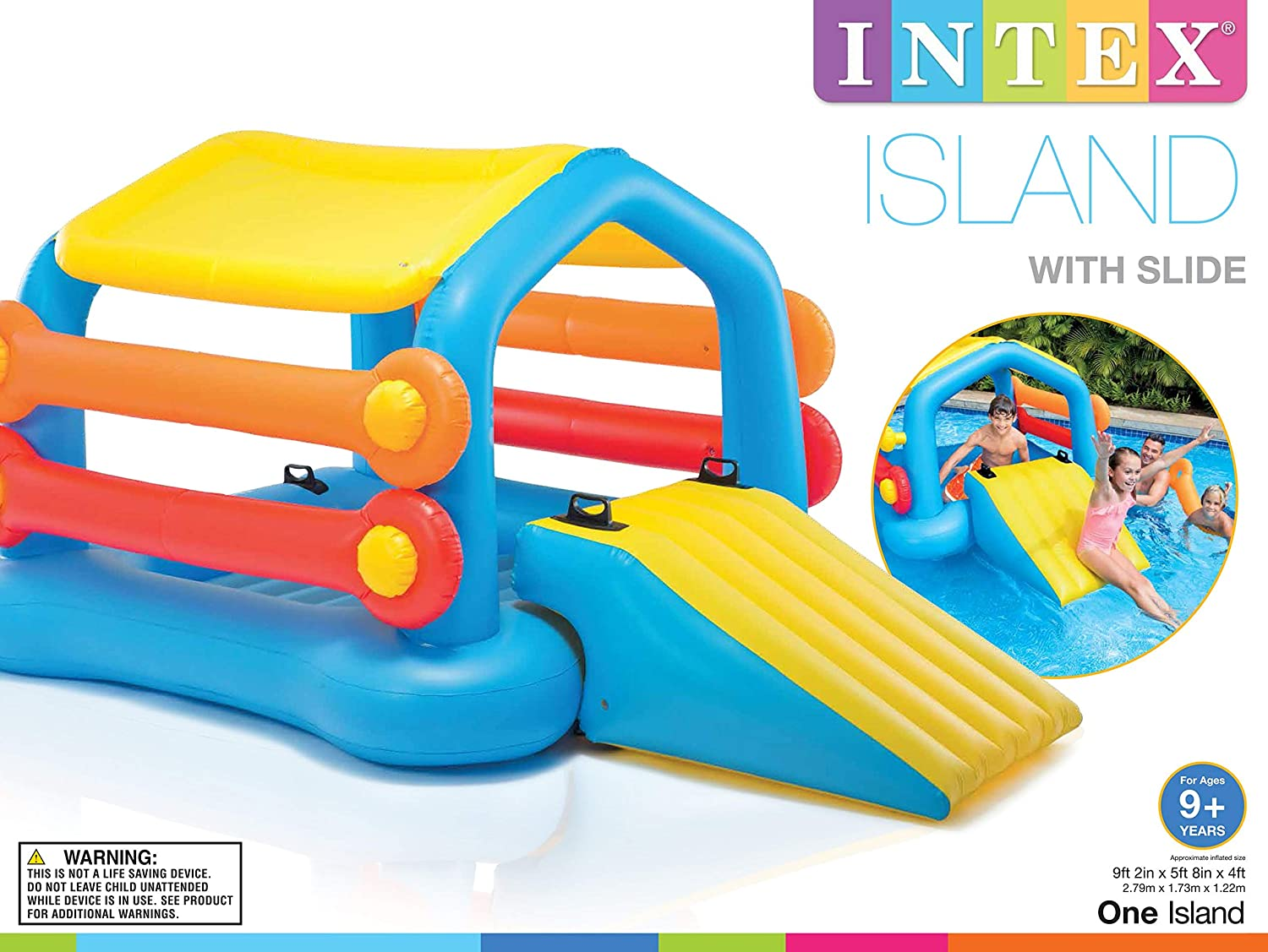 Amazon.com: Intex - Flotador hinchable para piscina, cabina ...