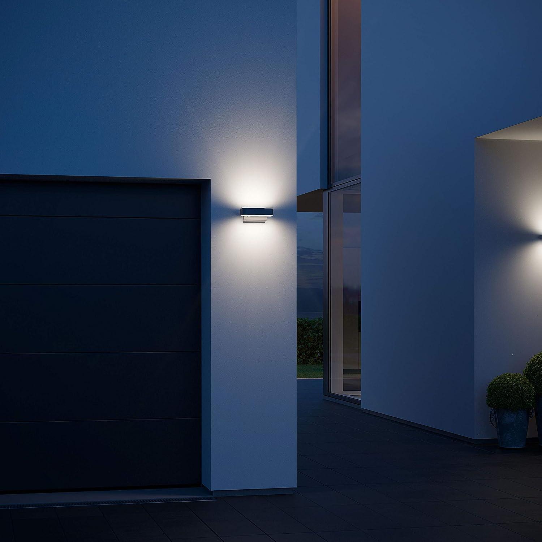 Steinel Lampada per Esterni con Sensore L 810 IHF LED Up-/Downlight, 12 W, Plata