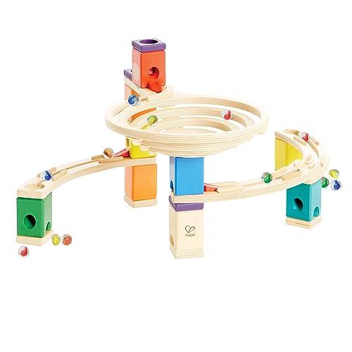 Hape - E6005 - Jeu De Construction en Bois - Circuit de Billes Quadrilla - The Roundabout