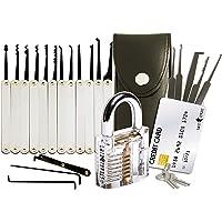 20-Delige Lock Picking Set voor Sloten met Transparant Training Hangslot en Credit Card Lock Pick Tool Kit van Lock…