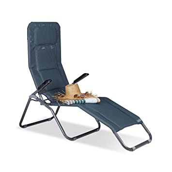 relaxdays chaise longue transat pliable plage jardin relaxation dossier inclinable jusqu 150 kg - Transat De Plage