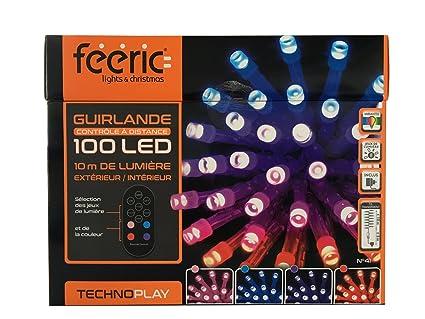 Déco No l Guirlande lumineuse 100 LED 10 m de lumi¨re avec