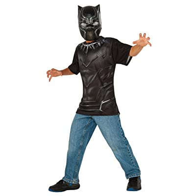 Rubie's Costume Captain America: Civil War Black Panther Child Top and Mask, Small: Toys & Games