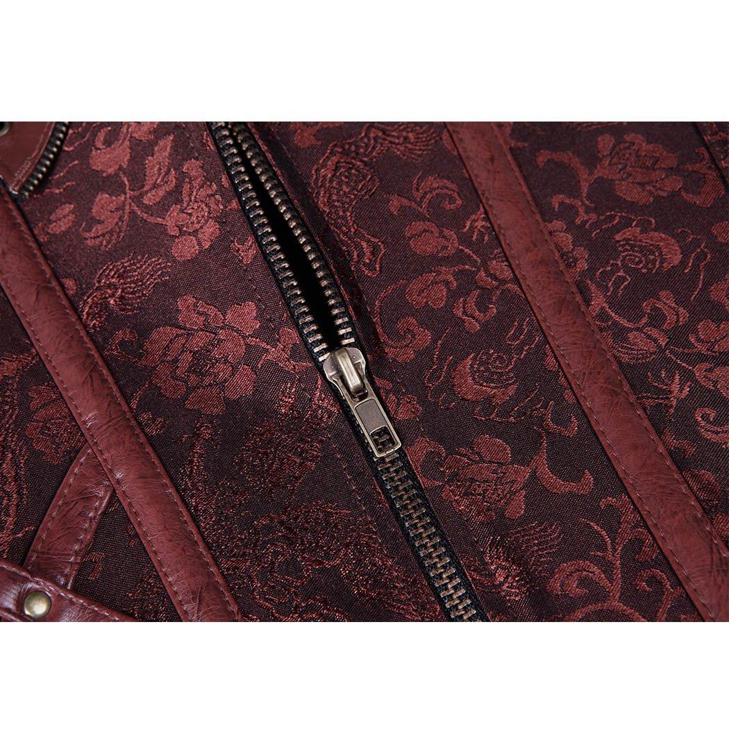 Lttcbro Womens Steel Boned Steampunk Gothic Halter Leather Corset Bustier