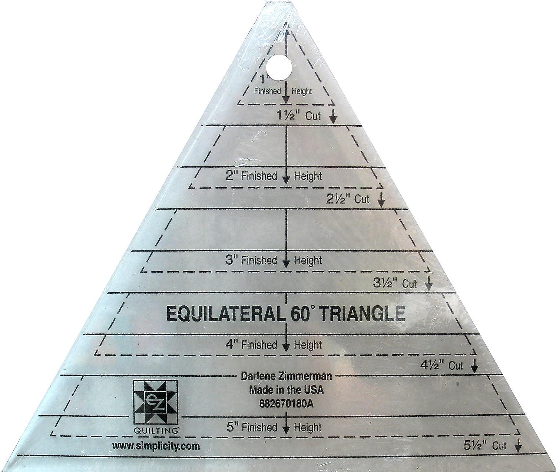 EZ Quilting 60° Dreieck, Schablone aus Acryl: Amazon.de: Küche ...