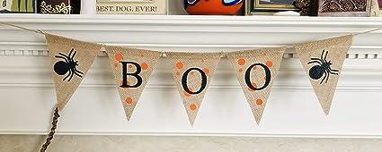 Halloween Spooky Bunting Banner Hessian Burlap