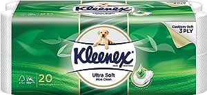 Kleenex Ultra Soft Scented Bath Tissue, Aloe Vera, 200 count (Pack of 20)