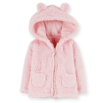 d9cda20d577a Amazon.com  CARTERS-Baby Girl Sherpa Jacket-Hooded-with 3D Ears and ...
