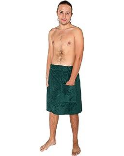 Arus - Toalla pareos para sauna - Hombre- Con cierre de velcro, 100%