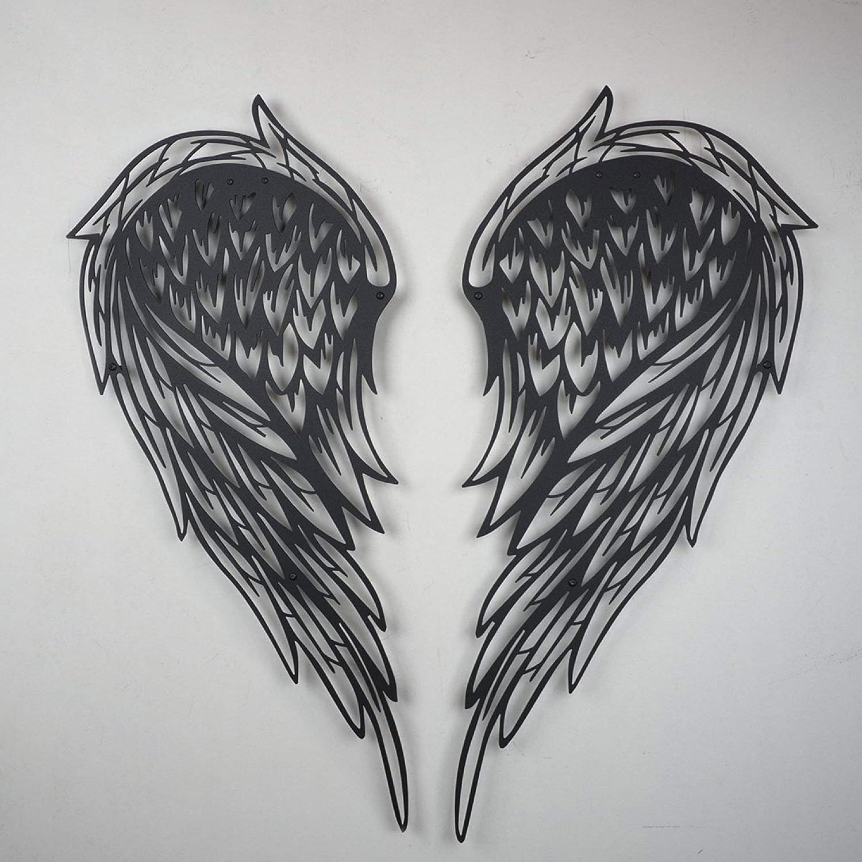 Tamengi Large Metal Wall Art Decor, Angel Wings Wall Decor, Metal Wall Decor, Angel Wings Wall Art, Metal Art Wall Decorations, Metal Artwork