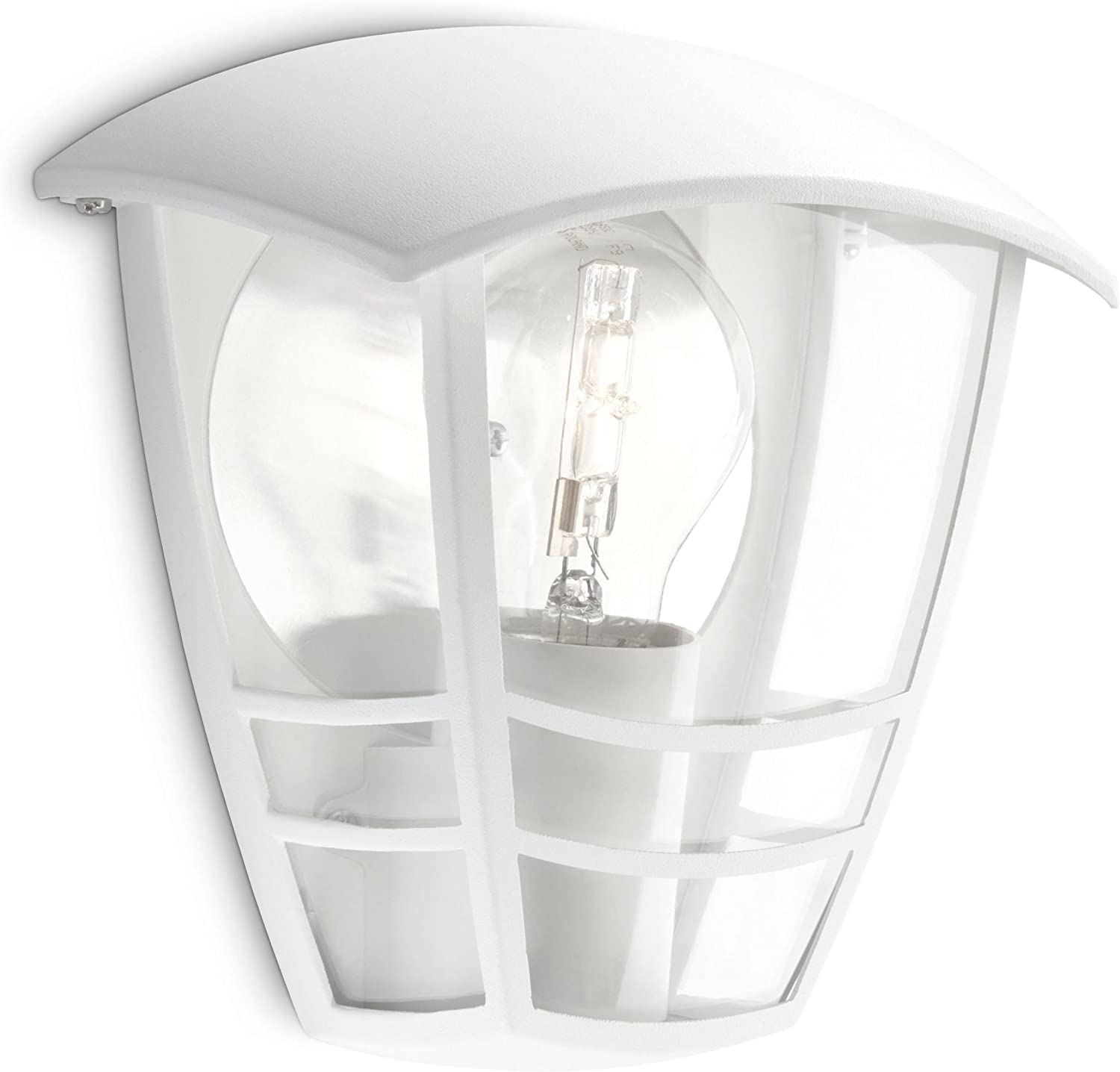 Philips Lighting myGarden Creek Aplique de exterior, empotrado, casquillo gordo E27, bombilla no incluida, resistente a la intemperie, IP44, blanco, 19.5 cm