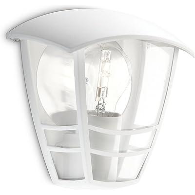 Philips Lighting myGarden Creek Aplique de exterior, empotrado, casquillo gordo E27, bombilla no incluida, resistente a la intemperie, IP44, blanco, 19.5 cm