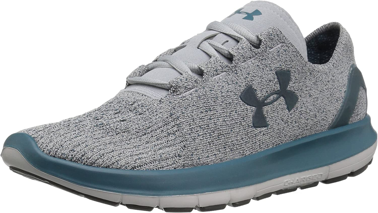 Under Armour Women s Atlantic Dune Running Shoe, Overcast Gray Glacier Gray Marlin Blue