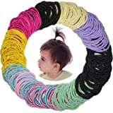 300 Pcs Baby Girls Hair Ties - Small Size Elastic Hair Ties for Baby Girls Infants Toddlers Multicolor Hair Bands…