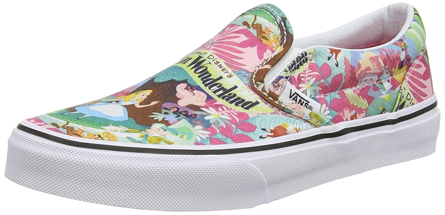Vans Kids' Classic Slip-on Core (Toddler) B00WVUFLLU 1.5 Little Kid M|Disney Wonderland Pink