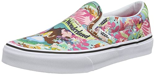 c46369b40f Vans Kids K Classic Slip-ON Disney Wonderland Pink Size 13.5  Amazon ...