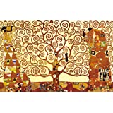 Wieco Art - Tree of Life Large Modern Stretched and Framed Giclee Canvas Prints by Gustav Klimt Classical Oil Paintings Love Pictures on Canvas Wall Art for Living Room Bedroom Home Decorations