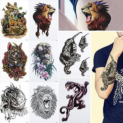 8 hojas tatuajes temporales adhesivo Unisex espalda cuerpo Art ...