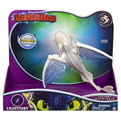 Dreamworks Dragons, Lightfury Deluxe Dragon with Lights and Sounds, for Kids Aged 4 and Up: Toys & Games
