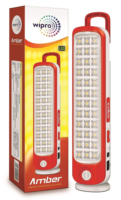 Wipro Amber Rechargeable Emergency LED Lantern-Emergency Light