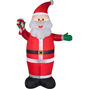 7 ft tall santa clause christmas inflatable lights up yard decor self inflates - Christmas Inflatables At Walmart