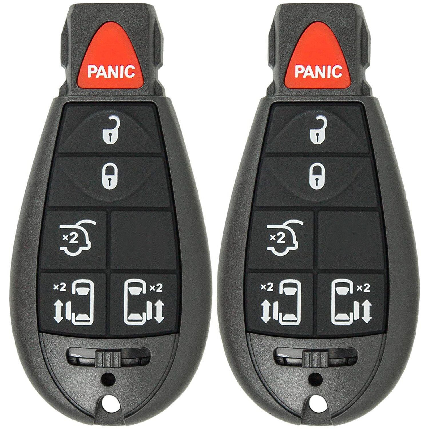Mushan Pack of 2 Keyless Entry 6 Button Key Remote Control Replacement Fob Transmitter Fits For 2008-2015 Chrysler Town & Country, 2008-2010 Dodge Ram 1500 2500 3500,2008-2013 Jeep Grand Cherokee by Mushan