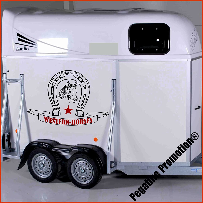 Banner Western Horses Modell 3 Aufkleber Anhänger Pferd Anhänger ca. 60cm Pegatina Promotion ®
