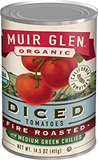 product image for Muir Glen Organic Diced Fire Roasted Tomatoes With Medium Green Chilies, 14.5 oz