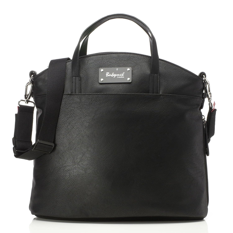 Babymel Grace Vegan Leather Tote Diaper Bag, Black