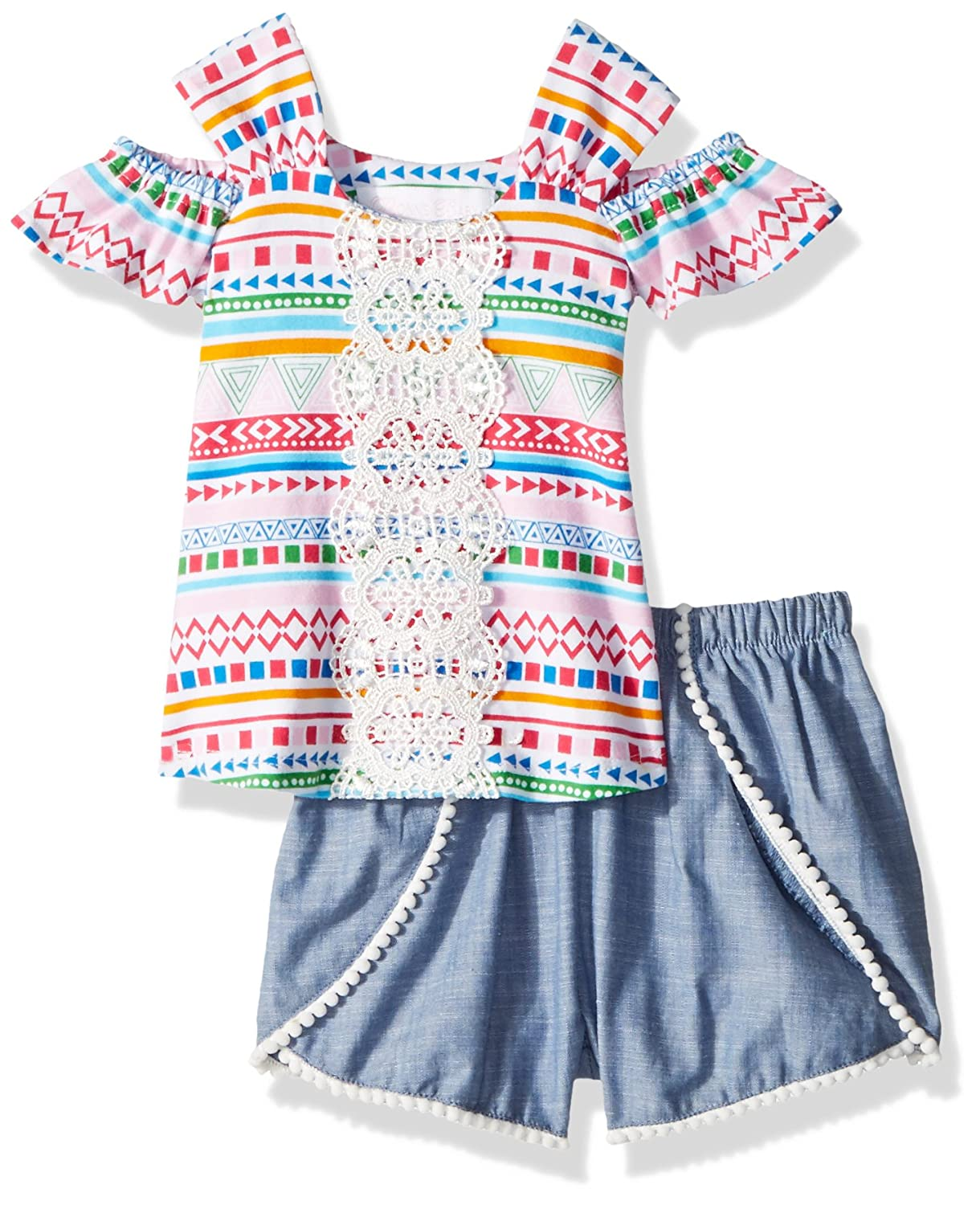 Bonnie Baby Baby Girls Top and Short Set