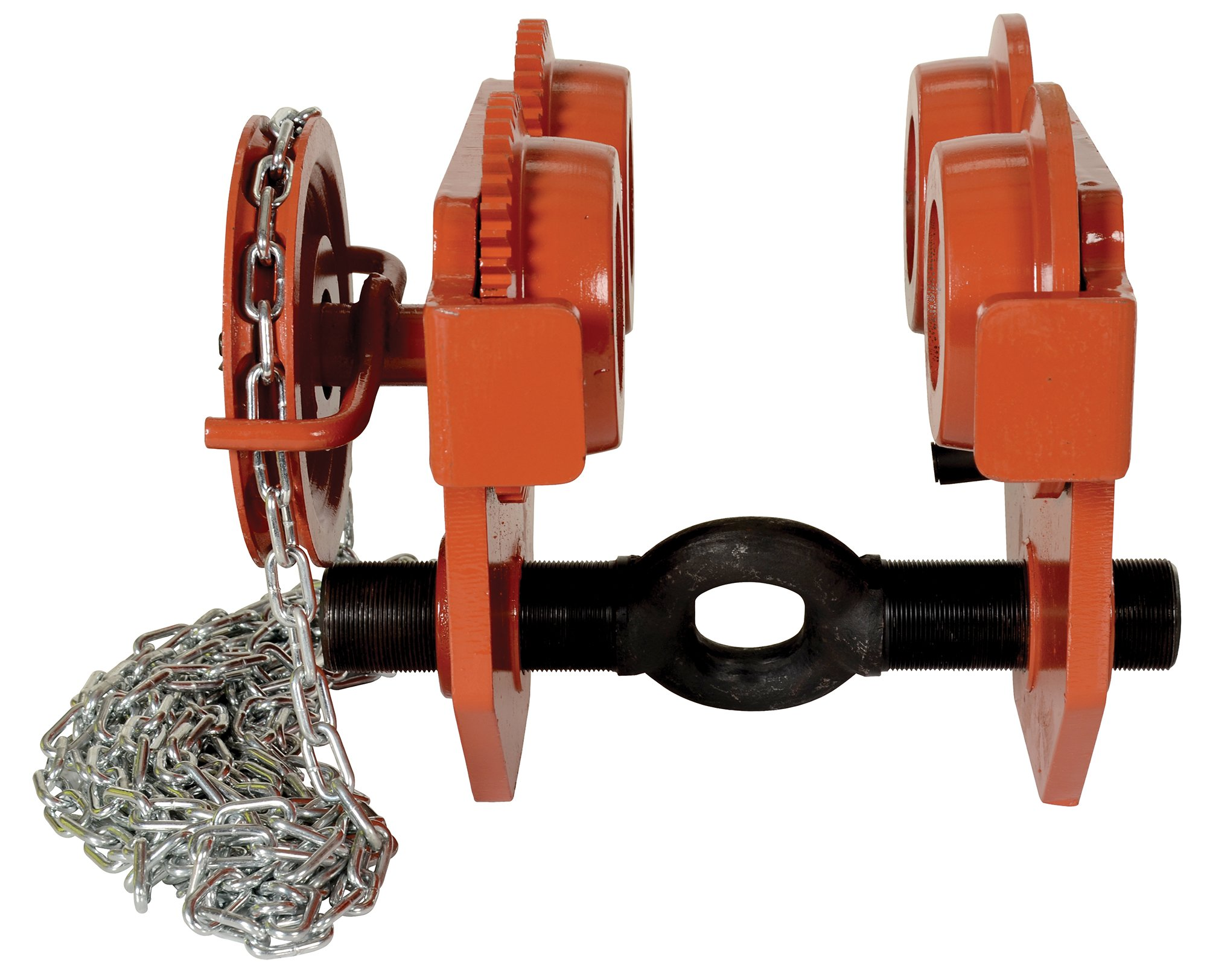 Vestil E-MT-8-C Steel Low Profile Eye Manual Chain Geared Trolley 8-5//8 Headroom Capacity 8,000-lb 3-1//2-8 I-Beam Flange