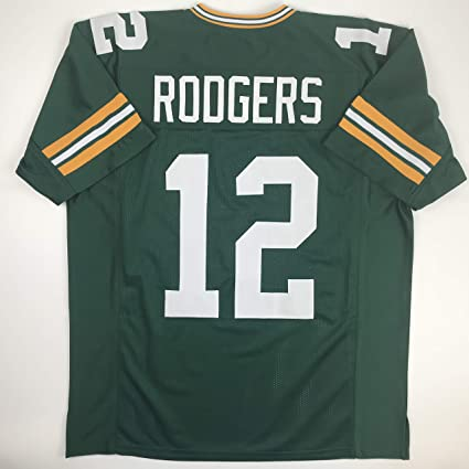 Unsigned Aaron Rodgers Green Bay Green Custom Stitched Football Jersey Size  XL New No Brands  ae6f486ee
