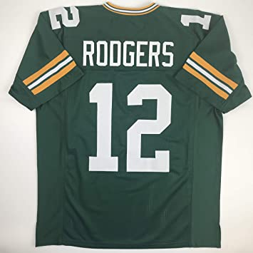 timeless design 521cc 97ef7 Unsigned Aaron Rodgers Green Bay Green Custom Stitched Football Jersey Size  XL New No Brands/Logos