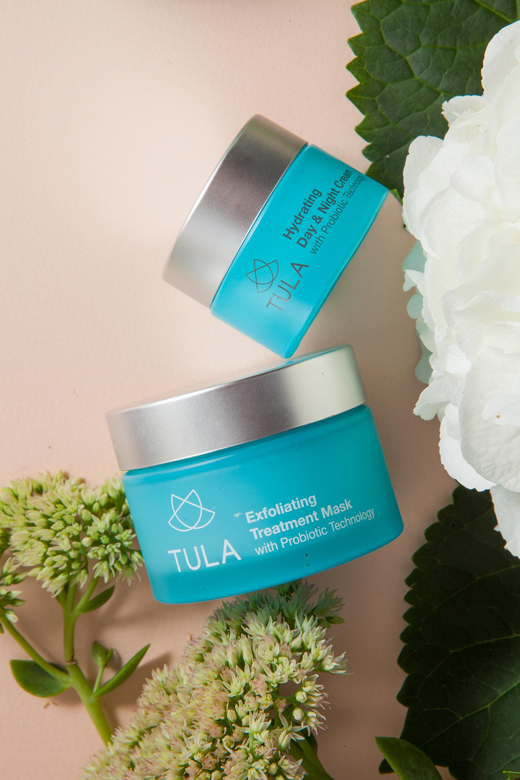 TULA Probiotic Skin Care Exfoliating Dual Phase Treatment Mask with Hydrating Vitamin E, Soybean Oil and Bentonite Clay, 1.7 oz