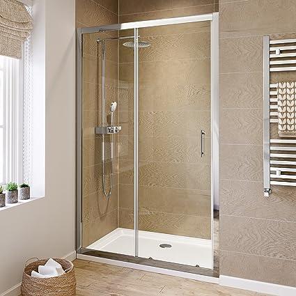 Amazon.com: 1200 mm Sliding Glass Cubicle Door Modern Bathroom ...