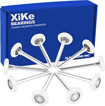 Amazon Com Xike 10 Pack White 2 Nylon Garage Door Roller 4 Stem Quiet Durable And High Load Use 6200zz Double Seals Precision Bearings Home Improvement